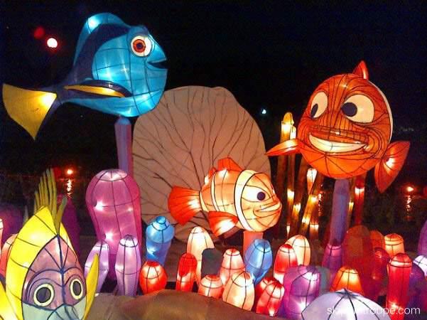 Lampion karakter Bentuk ikan