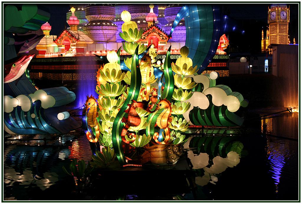 Lampion karakter / taman lampion Dunia Laut